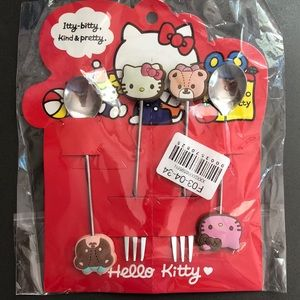 Hello Kitty Fork and Spoon Collectable